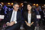 Il parterre Messaggero 140 anni Festa a Cinecitta'. Nella foto: Raffaele Cantone e Virginia Raggi. PAOLO CAPRIOLI/AG.TOIATI