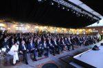 Il parterre e arrivo del Presidente Mattarella Messaggero 140 anni Festa a Cinecitta'. Nella foto: la sala. PAOLO CAPRIOLI/AG.TOIATI