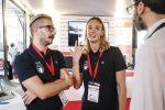 Maker Faire 2018. I nuotatori Panziera e Ruffini allo stand de Il Messaggero. Foto Gabrielli/Ag.Toiati